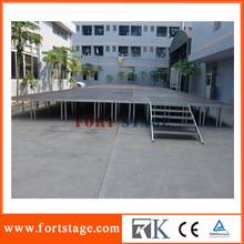 1.22*1.22m/1.22*2.44m aluminum assemble modular stage