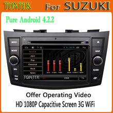 Android 4.2 car audio system for suzuki swift radio wifi buletooth 2011 2012
