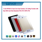 7 Inch MTK8312 Dual Core Dual Camera Android Tablet pc , Dual 3G sim card slot smartphone