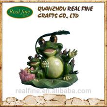 Home decoration lovely resin frog figure