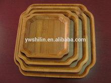 Bamboo serving tray set ,eco-friendly bamboo tray