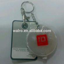 PVC LED keychains, reflective keychain with light, promotion plastic key ring