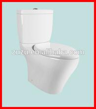 Ceramic sanitary ware washdown two piece toilet bathroom commode T-14