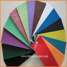 Fire Proof Luxury Carpet Moquette,plain exhibition carpet with protective film