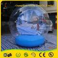 Pvc 1.0mm 0.9mm y encerado del pvc globos de nieve inflable de navidad para el día de la diversión de la familia y eventos comerciales