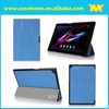 Flapstand leather case cover for sony xperia z2 10.1 tablet