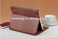 Latest Crocodile Grain design for Ipad 5 pu flip cover case
