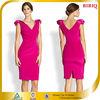 New Fashion Red Appliqued Shoulder Designer One Piece Party Dress Net Frock Design