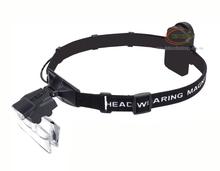 2014 led light head magnifying glass,magnifier visor