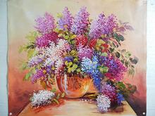 High quality cheap acrylic flower oil painting
