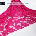 Kebaya modern elegant rose red african guipure lace material/Guipure lace in korea