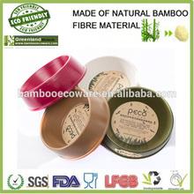 round shape Eco-friendly Bamboo Fiber Pet Dog Bowl