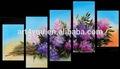 Colgante de pared bellas artes pintura al óleo imagen de la flor para el dormitorio 41449