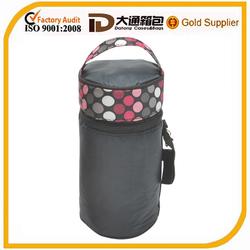 2014 fashion new design round tote bottle wine cooler bag