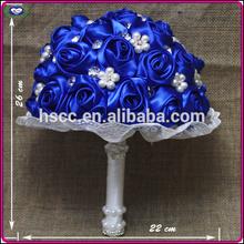 2014 Latest Fashioned Luxury artificial Wedding Bouquet Royal blue Silk flowers wedding Bouquets
