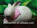 animado bonito estatueta coelho resina artesanato