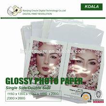 inkjet waterproof high glossy photo paper ,cast coating factory
