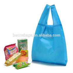 Reusable 190D Nylon Waterproof Foldable Storage Use Tote Shopping Bag