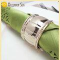 venta de alta claro decoraciones para bodas de metal anillo de servilleta