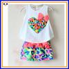 2014 pure cotton babies set,printing babies set,baby t-shirt set