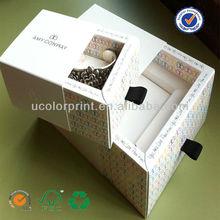Custom logo sliding match type jewelry packaging box