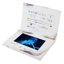 Beautiful design customized 7 inch Video Brochure, Usb Digital Video Player Greeting Cards