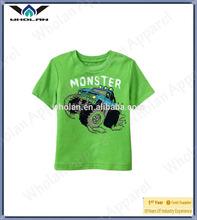 Little boy's t shirt hot style plain wholesale children's printed t-shirt