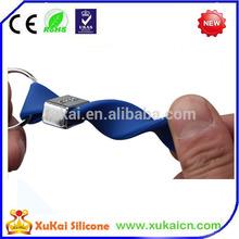 Hot sale Silicone key chain,silicone bracelet keyring
