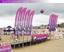 Very Hot sale outdoor advertising beach flag shark flag banner flag
