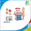 2014 plastic toys kitchen play set with light and music JU029510