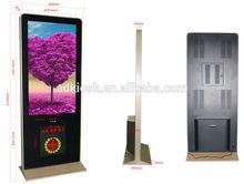 stand alone indoor 42inch wifi advertising lcd display mobile digital billboard