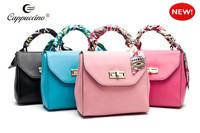 2014 hot sale fashion hand bag color collision hand bag