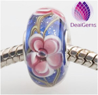 European Lampwork Glass Large Big Hole Beads for Charm Bracelets