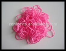 2014 Fashion Elegant Pink Elastic Rubber Bands
