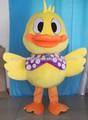 vendita calda di alta qualità anatra giallo costumi mascotte anatra costume