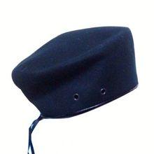 New Women Grey Wool Beret Hat