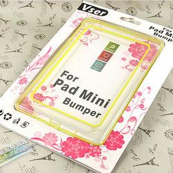 Bumper Clear Silicone TPU Transparent Frame Bupmer Case for iPad mini 1 2