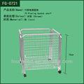 Venda quente venda direta da fábrica de metal quadrado fio cesta de frutas, metal cesta de arame, cesto para roupa