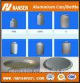 Aluminio 250ml-1000ml toro rojo botella de agua/contenedores de aluminio/de aluminio en polvo puede