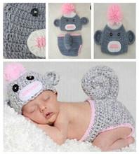 Newborn photography props infant clothing modelling monkey multi-color optional shape