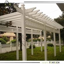 Customzied high quality garden plastic/vinyl/pvc fence trellis