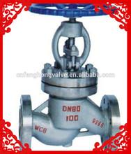 flanged globe valve wcb ss