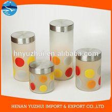kitchen glass clip top lid storage jars clear glass jar