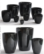 Ceramic flower black pot for flower holder house decoration