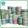 multi color printing cosmetic adhesive label, durable fadeless plastic sticker