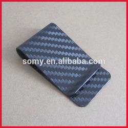2015 promotional custom carbon fibre money clip