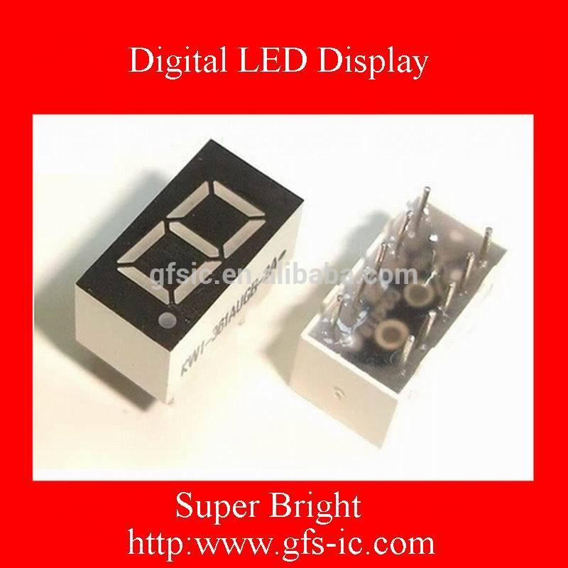 (0.36 Inch) Single digits 7 segment Digital LED Display Olivine COMMON Anode