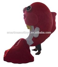 mascot costumes wholesale Good vision fish mascot costume adult fish costume