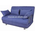 metal frame fabric sofa cum bed B75