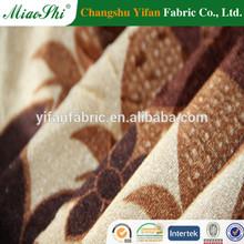 Wide line design printed 100polyester knit weft velvet for upholstery